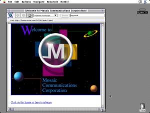 первый браузер Mosaic для Mac