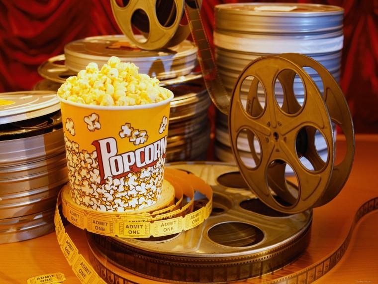 Слоганы фильмов, кинолента и поп-корн