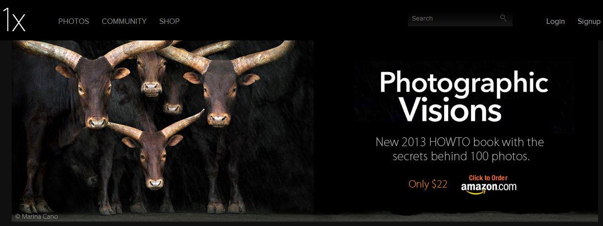 1X - платформа для создания портфолио для фотографов