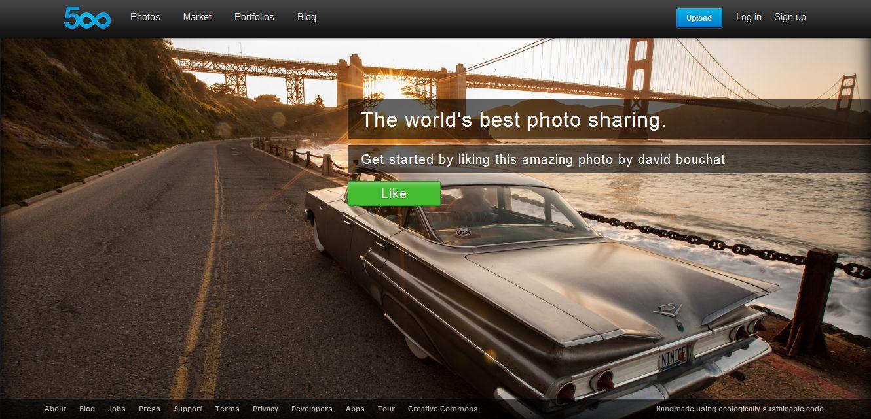 500px - инструмент для создания портфолио фотографа