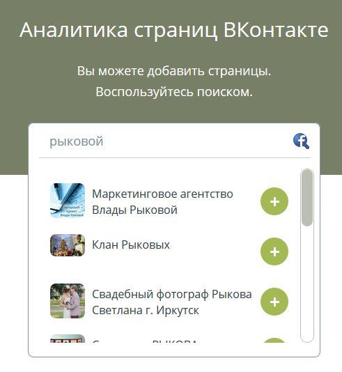 Пример анализа сообщества ВКонтакте
