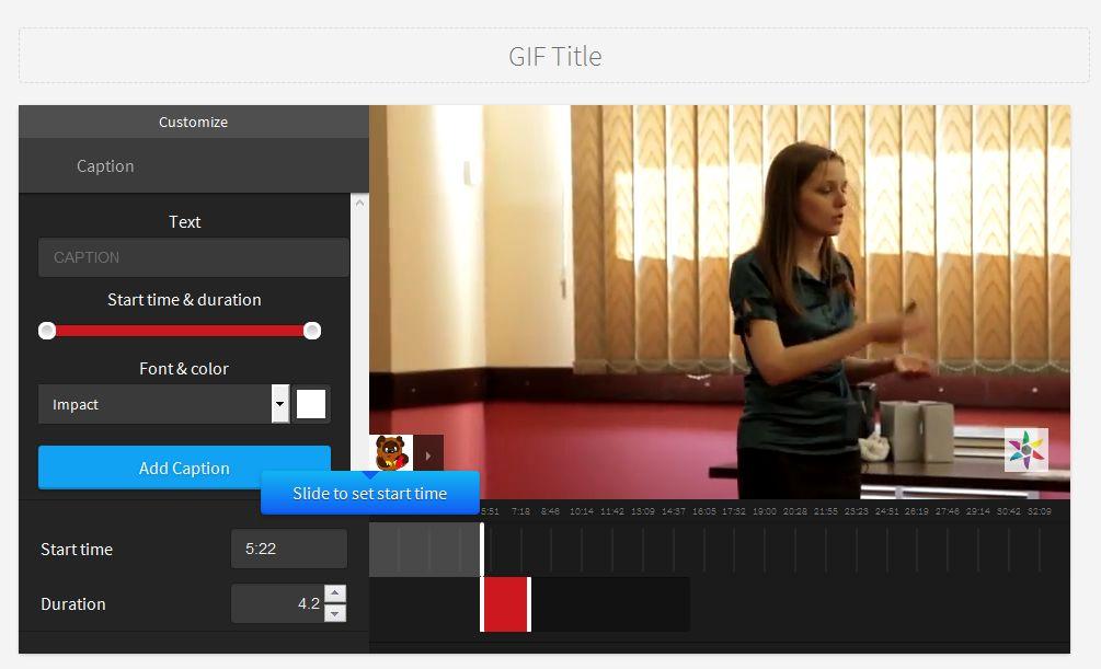 Создание GIF файла из YouTube видео
