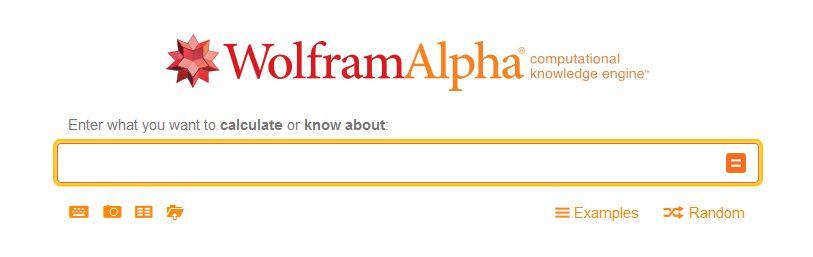 Справочная поисковаясистема WolframAlpha