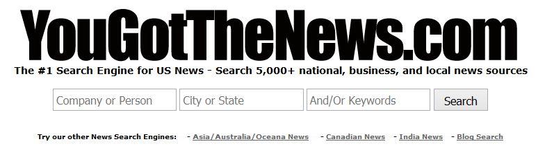 Поисковая система новостей YouGotTheNews