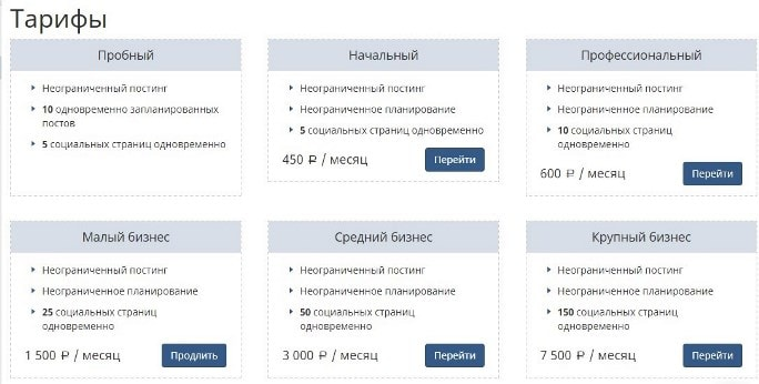 сервис отложенного постинга SMMplanner