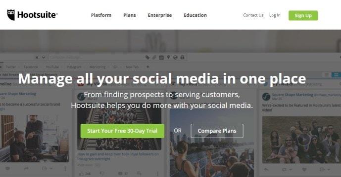 сервис отложенного постинга Hootsuite