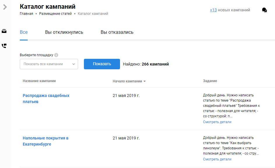 Биржа прямой рекламы colloborator - каталог