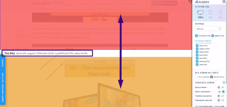 просматриваем информацию по активности пользователей на разных экранах