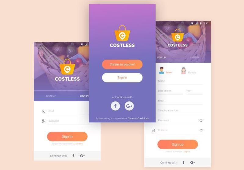 Сostless - умное приложение для покупок