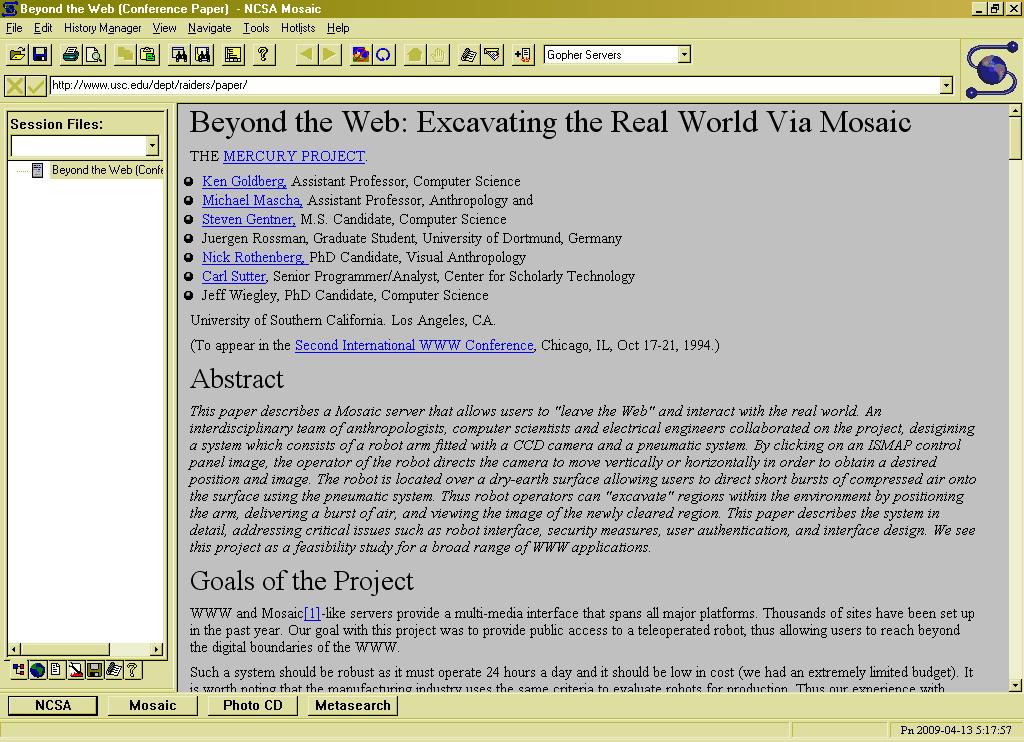 Mosaic браузер - фото 2
